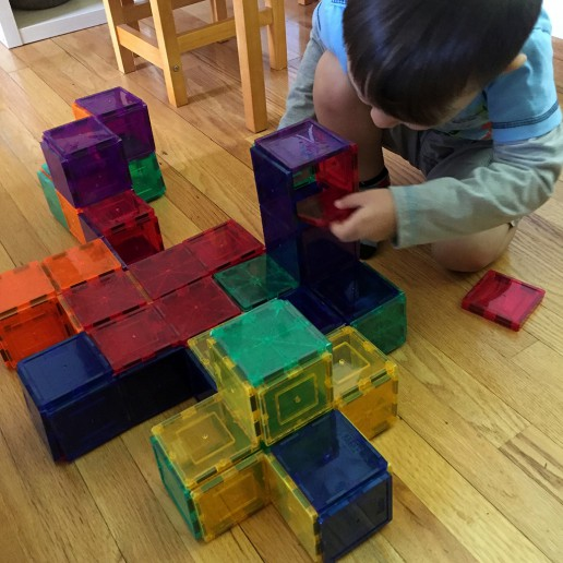 Building Blocks with Magna Tiles